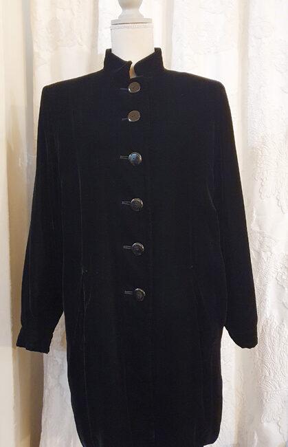 Cappotto  in velluto Yves Saint Laurent  Rive Gauche – Nero